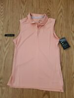 Nike Golf Polo Shirt Sleeveless Dri-Fit  Pink Quarz 884873-606 Women Sz S NWT$50