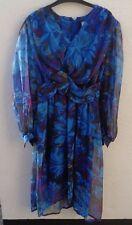 True vintage Jean Allen size 14 multi coloured dress (see description)