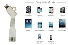 USB Charge Key Chain Lightning Cable Key Sized Tested with Ios9 For Iphone 6 5 S