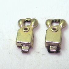 Antique Vintage Jewelry Finding Unique End Clasp Gold metal Must See 2/set #C216