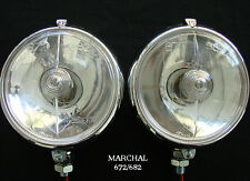 "MARCHAL 672/682 (5-3/4"") DRIVING LIGHTS WITH CLEAR 12V. 55 WATT BULBS"
