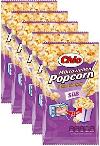 Chio Mikrowellen Popcorn Süß - 5 Packungen je 100 Gramm