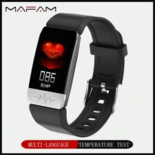 Smart Watch Pro Body Temperature Heart Rate Monitor Fitness ECG With Free SHIP