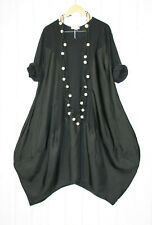 MoonshineTunika Kleid 48 50 52 Lagenlook Gr. 2 Schwarz  Neu