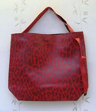 ESTEE LAUDER Grande Rosso Vinile (In Finta Pelle) Con Motivi Shopping/Tote/Borsa Da Viaggio