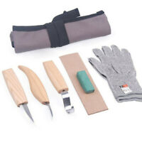 5 Pcs Wood Carving Kit DIY Chisel Tool Woodworking Cutter Chip Hand Tools Set