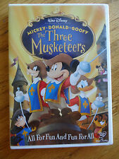 Disney The Three Musketeers DVD 2004 Micket Donald Goofy