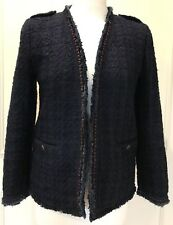 Ladies Navy Blue woven check NEXT womens jacket size 12