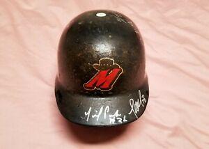 High Desert Mavericks Defunct Team Signed Game Worn Batting Helmet - Mariners
