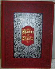 Antique 1883 Goethe's Bermann und Dorothea w Lithos in German