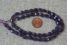 Amethyst-Strang(Flach Oval, fac.6x8x3mm) Q-5433/G