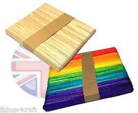 Wooden Lollipop stick lollypop sticks lolly stick Natural or Colour - UK Seller