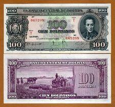 Bolivia, 100 Bolivares, 1945, Pick 142, Scarce in UNC