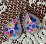 """EXQUISITE """"ALL OVER PAWS"""" THREAD EARRINGS - 3.25 inches High x 1.5 inches Wide"""