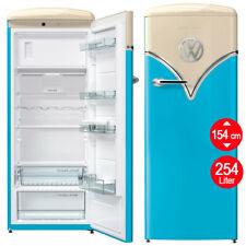 Kühlschrank Retro Nostalgie Gefrierfach Blau Nostalgie freistehend Stand 154 cm