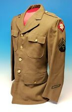 WWII US Army M1937 Class A Jacket 1940 Dated Named 4th Army Henry Vraibel 39R