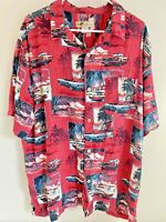 Joe Marlin Mens Sz 2XL Ford Mustang Convertible Cars Hawaiian Shirt Cabana XXL