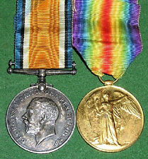 WW1 BRITISH WAR & VICTORY MEDAL PAIR,CPL TALL SOUTH AFRICAN ARMY SERVICE CORPS