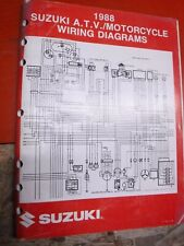 1988 Suzuki Atv & Motorcycle Original Factory Wiring Diagrams Manual Service