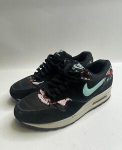 "Nike Air Max 1 Print Women's ""Aloha Black"" Size 9 Sneakers"