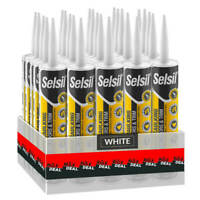 Selsil Premium 280ml White Paintable Siliconized Acrylic Sealant (25-Pack)