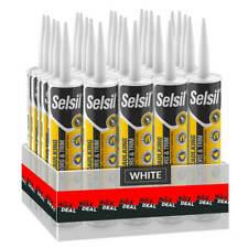 Selsil Premium 280ml White Paintable Siliconized Acrylic Sealant (25-Pack)