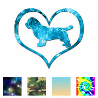Heart Sussex Spaniel Dog Love - Decal - Multiple Patterns & Sizes - ebn1523