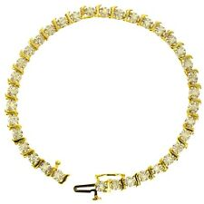 1 CT DIAMOND TENNIS BRACELET 14K YELLOW GOLD NATURAL ROUND BRILLIANT CUT ESTATE