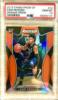 2019-20 Panini Prizm Cam Reddish Rookie Card Orange Prizms PSA 10 Gem Mint Hawks