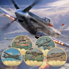 WR World War 2 Plane Coin Medals Fighter Planes Collectables Gift