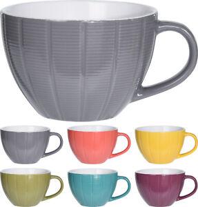 6 Large 460ml Coffee Mugs Café Latte Mug Cappuccino Tea Cup Drinking Cups