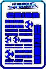 TEAM ORION ESC MOTOR BATTERY LIPO RC DRIFT STICKER DECALS 1/8 1/10 BLUE BLACK