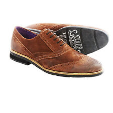 Blackstone SCM002 Wingtip Leather Shoes (For Men) Size 11 - Ember - NIB