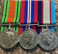 Military Medals Set Of 3 Defence, War And ASM 39 45