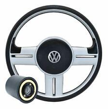 VW Golf Jetta Mk2 Mk3 Mk4 Steering Wheel Silver Rally Style