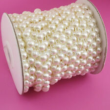5/16 inch wide Half Round Pearls Beads String  ivory color price for 1 yard