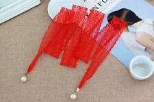 Women's Pearl Waist Belt Floral Crochet Lace Corset Cinch Wrap Around Waistband