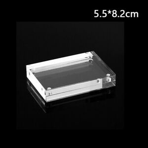 New 1pc Right Angle Acrylic Photo Frame Set Thickness 0.8+0.8cm Price Tag