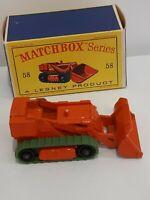 Matchbox Lesney 1962 Drott Excavator #58 With Original Box