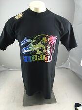Vintage Neon Puffy paint Florida Souvenir Dolphin graphic tshirt L USA MADE