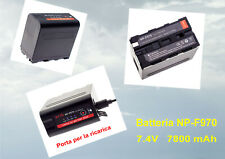 BATTERIA RICARICABILE TIPO NP-F970 PORTA USB Li-ion  7.4V  7800 mAh 6 CELLE