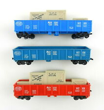 3 Lionel HO 0865-250 NYC Michigan Central Gondolas+Freight Red Blue No Boxes T27