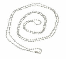 10 Silver  2.4mm Ball Chain Necklace 100cm Long