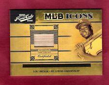 2005 Prime Cuts MLB Icons Lou Brock GU Bat #MLB-27 Ser.# 44/50