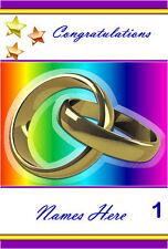 Free P/P-Tarjeta de compromiso de boda gay - (selección a elegir) Personalizado-A5