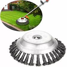 """6/8"""" Weed Brush Steel Wire Trimmer Wheel Garden LawnMower Grass Cutter Head Tool"""