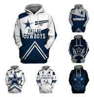 Dallas Cowboys Hoodie Football Hooded Sweatshirt Pullover Men Casual Coat Jacket