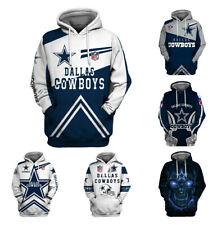 Dallas Cowboys Hoodie Football Hooded Sweatshirt Pullover Fans Casual Jacket