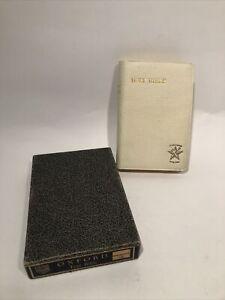 Holy Bible Oxford Text Creme Circa 1936 Signed Original Box Printed Great Brit