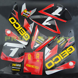 GEICO GRAPHICS DECAL STICKERS KIT For HONDA CRF502004-2014 SDG SSR50